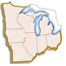 Midwest Map Clickable To Each State Page Of Links US Fish - Midwest region map