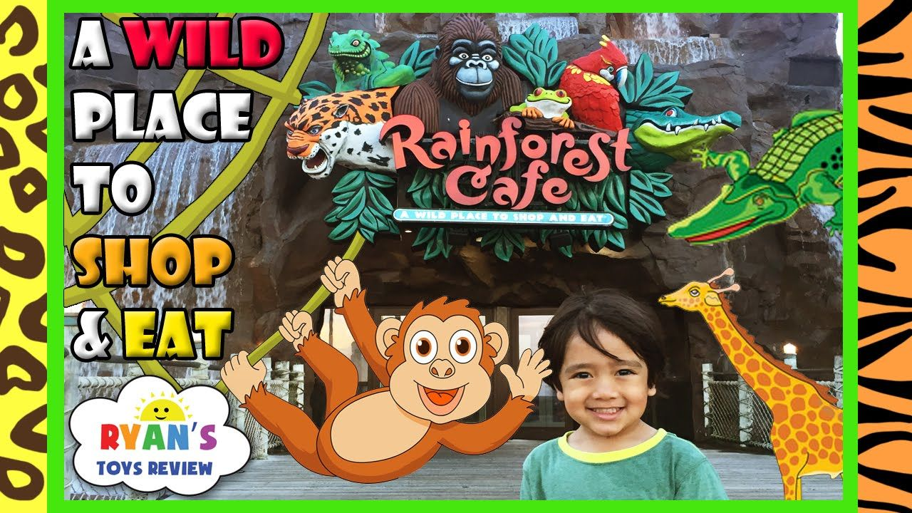 awesome Rainforest Cafe Family Fun Theme Restaurant Animals Amusement Ride Toys for Kids Ryan ToysReview