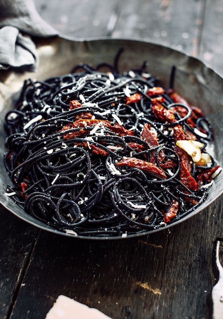 Photo of Tomato witch hair spaghetti with squid ink