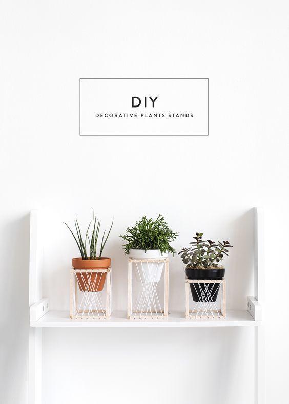 Donnez à votre plante un trône | Stand de l'usine de bricolage | artisanat en bois de balsa - Wood Design #woodcrafts