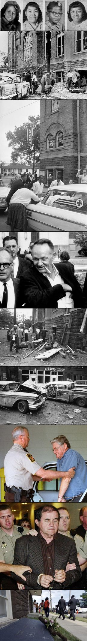 At 10:22 a.m. on Sunday, Sept. 19, 1963, as families arrived to attend services at the church, a thunderous explosion rang out from the basement. 19 sticks of dynamite were planted in the basement of the 16th Street Baptist Church. The blast killed 4 little girls & injured dozens more.Despite a national outcry for justice, - Birmingham, was a place where 50 other racially motivated bombings had gone unsolved over recent decades.