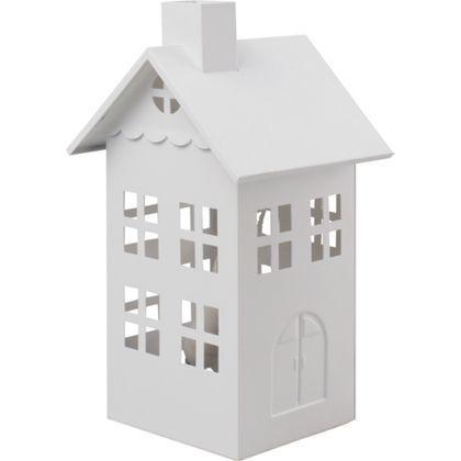 House Table Lamp - White - 28cm at Homebase