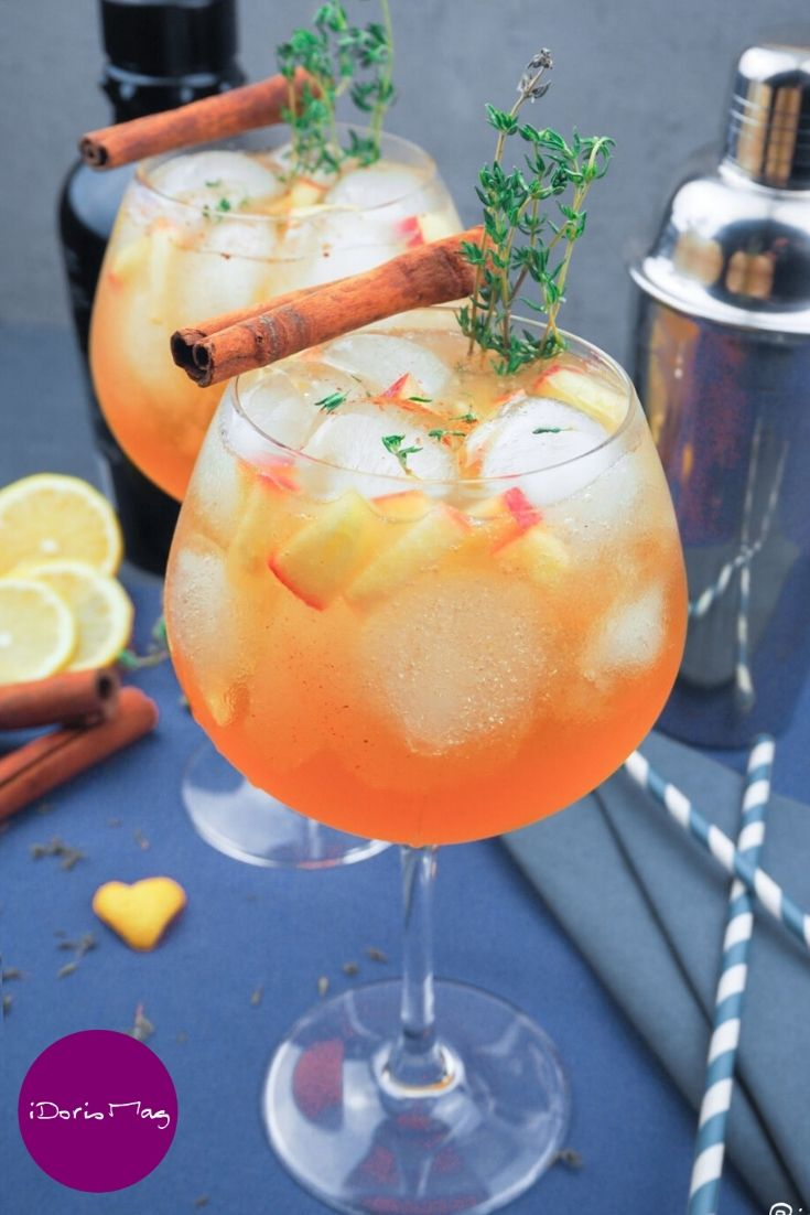 Photo of Apple cinnamon gin cider cocktail