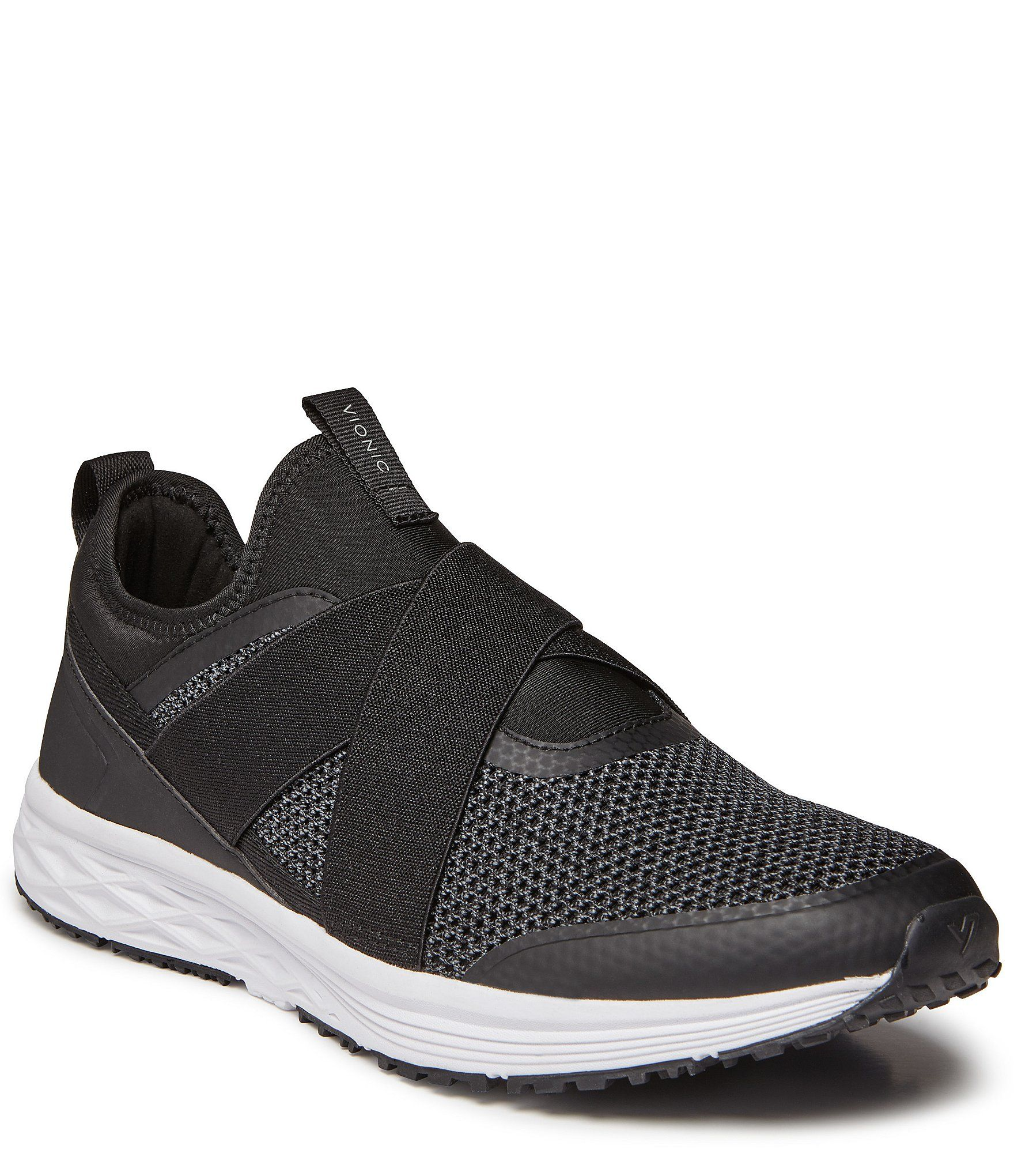 From Vionic, the Men's Jasper Sneaker features:Casual slip-on Crossover straps across the vamp and pull-tab detail for easy on and offMesh and man-made upperRemovable mesh covered EVADurable rubber outsoleImported.