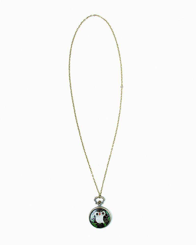 for women: Owl Pocket Watch Pendant by JewelMint