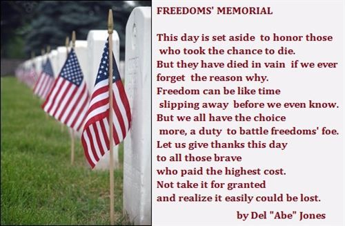 Happy Memorial Day Quotes And Sayings Pictures For Facebook Pinterest Memorial Day Quotes Memorial Day Poem Happy Memorial Day Quotes