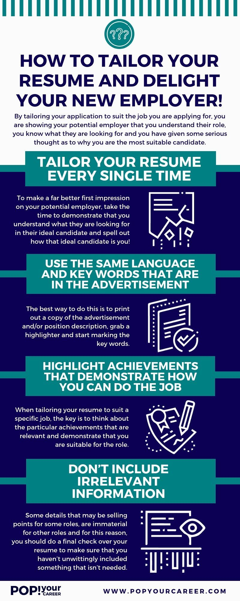 Do You Tailor Your Resume To Suit Every Single Job You Apply For If Not You Need To Get Onto This Trick Im Resume Tips Job Interview Tips Resume Writing Tips