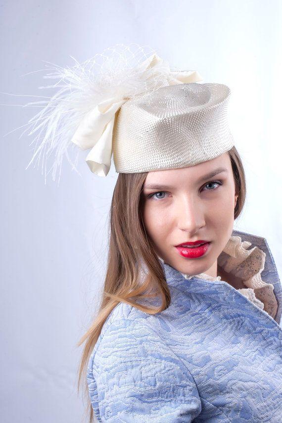 Elegant wedding pillbox and Edwardian jacket by Irina Sardareva Couture  Millinery 8f889abef0e