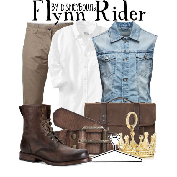 Flynn Rider by leslieakay on Polyvore featuring Tiffany & Co., Jack & Jones, Old Navy, Frye, SELECTED, Ted Baker, Scotch Shrunk and Disney