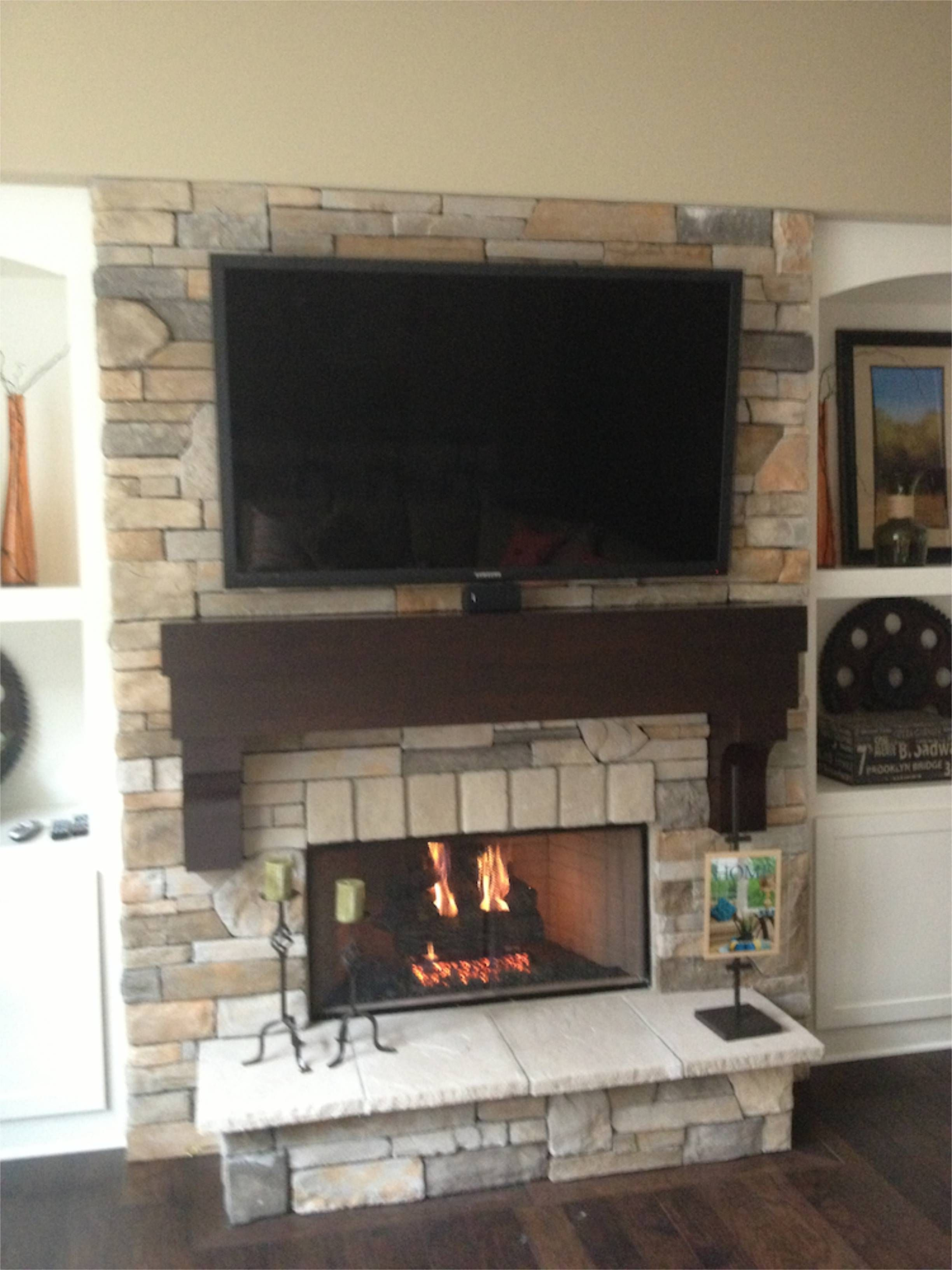 Faux Fireplace Insert Diy Ventless Gas Log Fireplace My Husband And I Built For Our