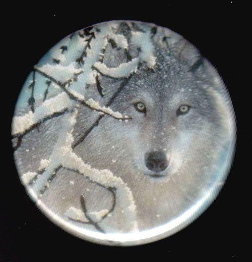 Lone Wolf Button   by kohaku16 on Etsy, $3.00