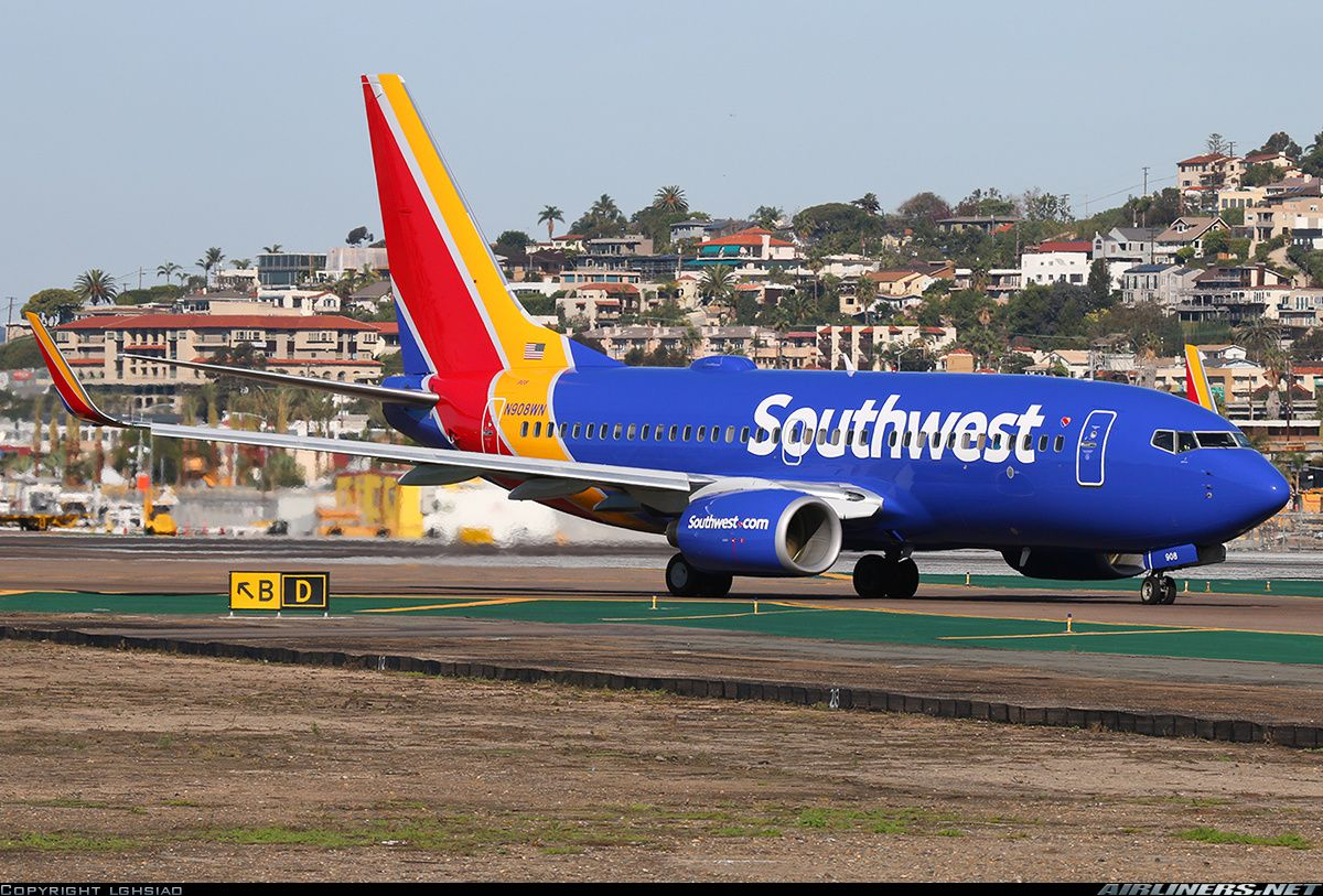 Boeing 737 7h4 Aircraft Picture Southwest Airlines