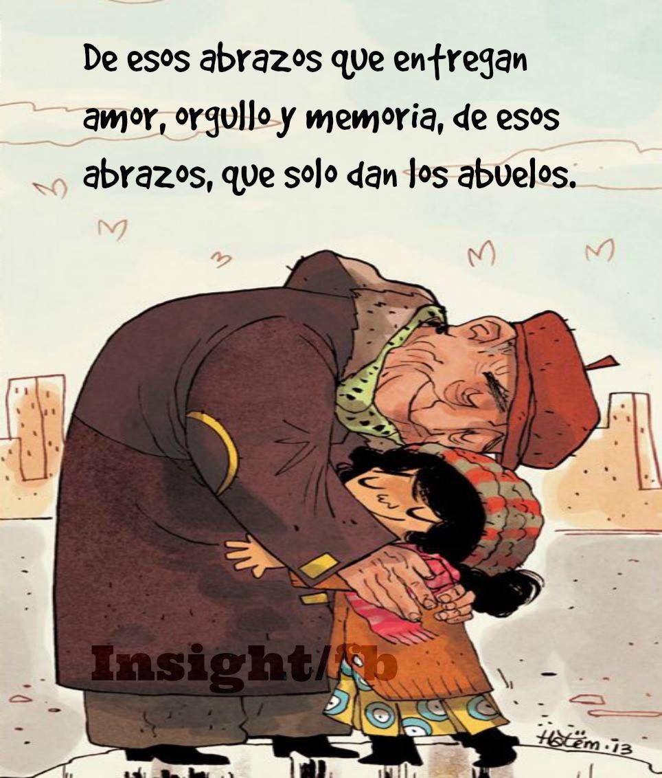 Los abrazos que solo dan los abuelos    | Frases | Poemas