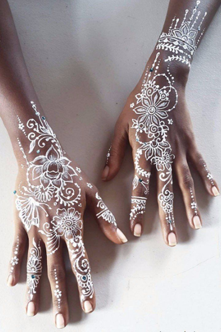 These White Henna Designs Are So Beautiful They Ll Make Your Jaw