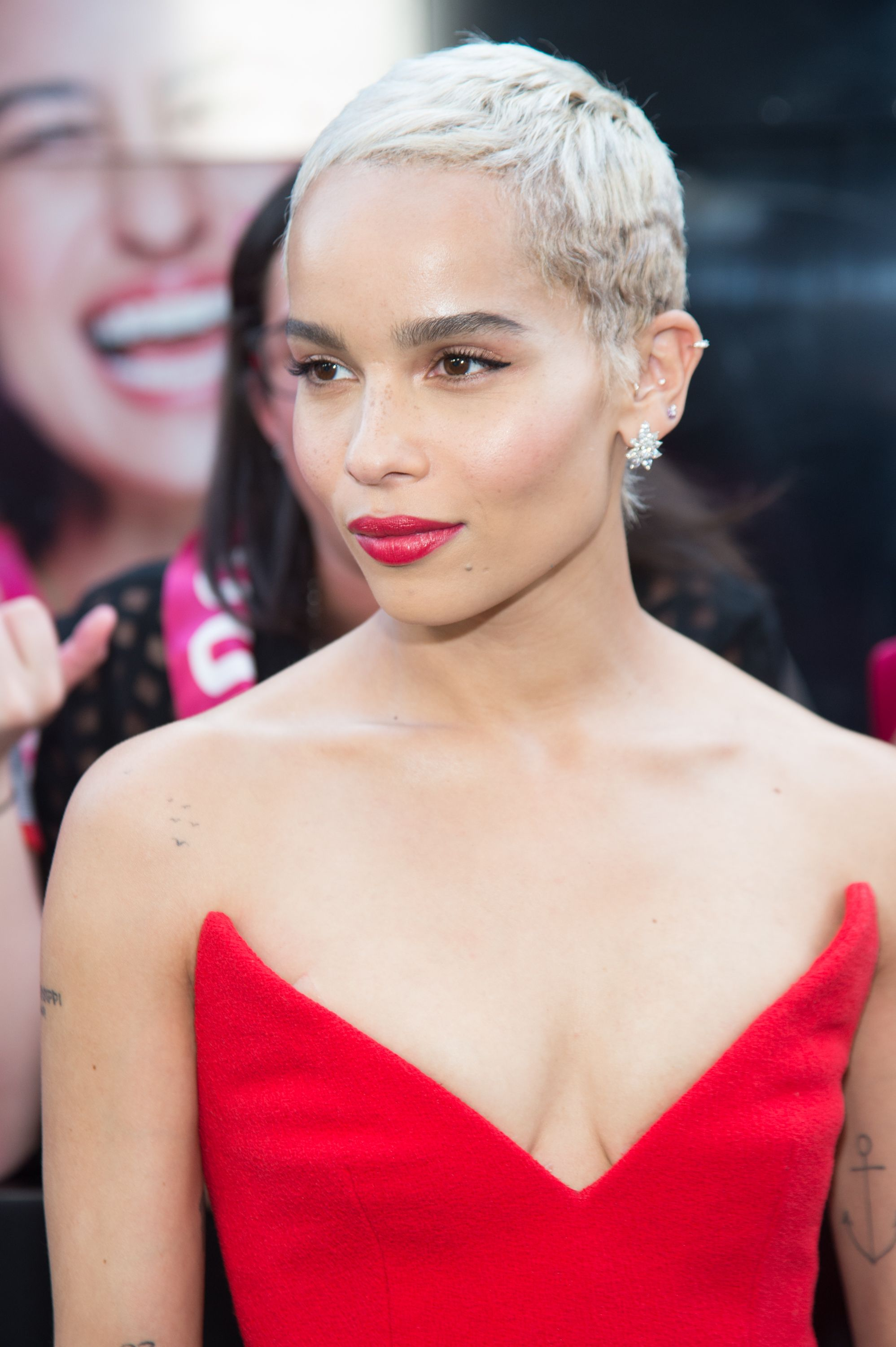 Zoe Kravitz Matches Her Makeup And Outfit At Rough Night