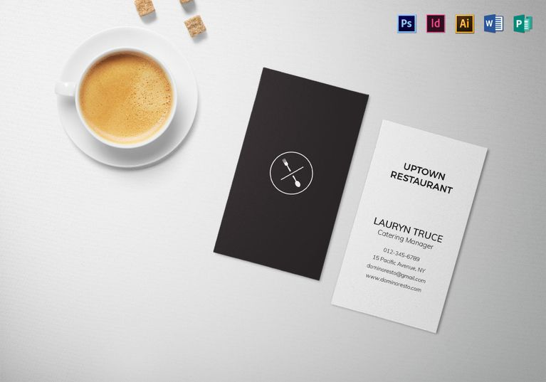 Minimal Black And White Business Card Template Business Card