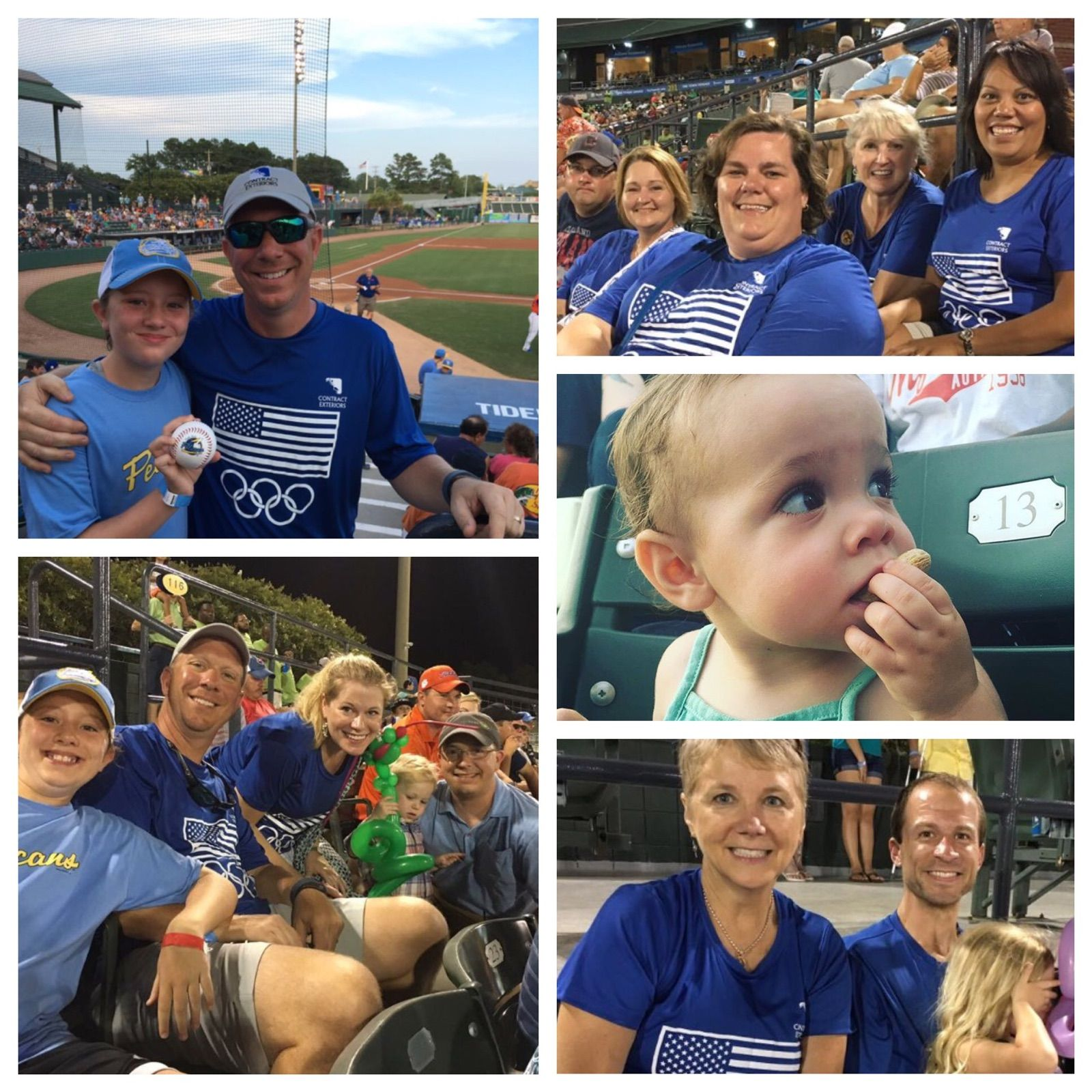 Our Myrtle Beach team at the Pelicans Baseball game