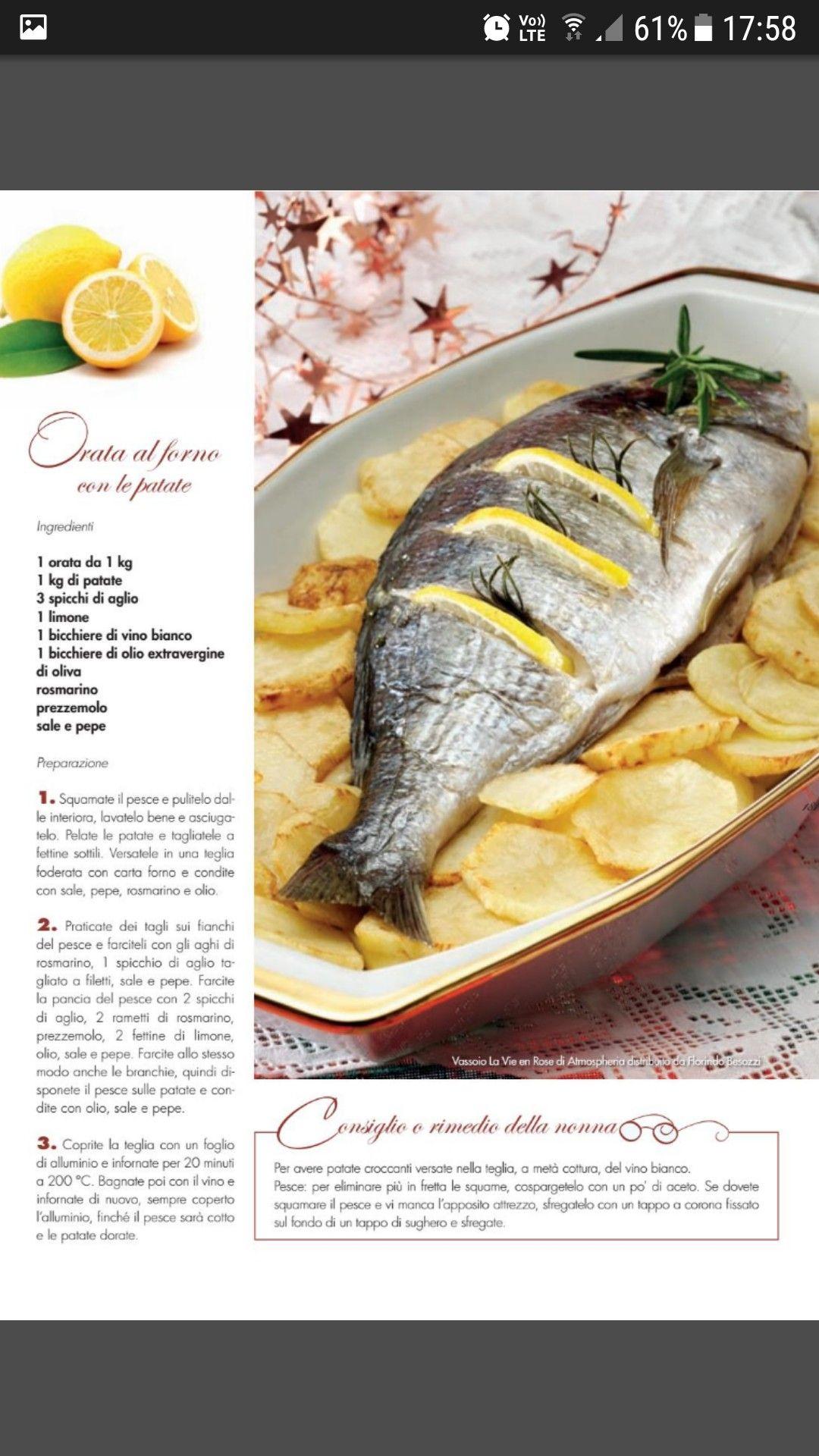 Orata Al Forno Con Le Patate Secondi Piatti Di Mare Food Ethnic