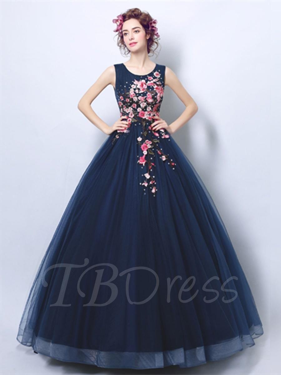 2869004475  Valentines  AdoreWe  TBDress -  TBDress Scoop Embroidery Quinceanera Dress  - AdoreWe.com