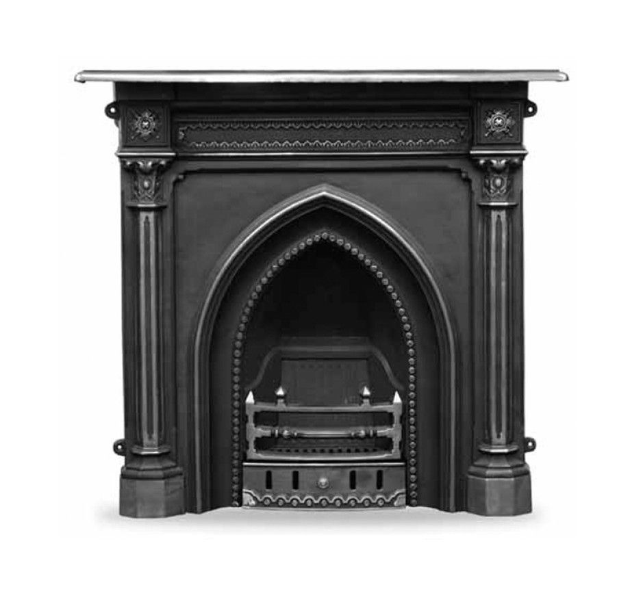 Carron Gothic Cast Iron Combination Fireplace In 2020 Cast Iron