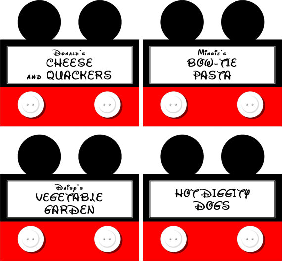 Instant download food labels mickey mouse clubhouse birthday party these mickey mouse inspired food labels are perfect for letting your guests navigate the food table on their own while you tend to other important maxwellsz