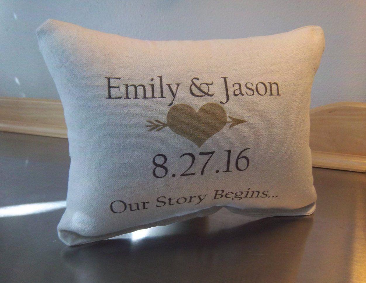 Newlywed Pillow Personalized Wedding Cushion Cotton Anniversary Fiance Gi Personalized Wedding Gifts Personalized Couple Gifts Personalized Engagement Gifts