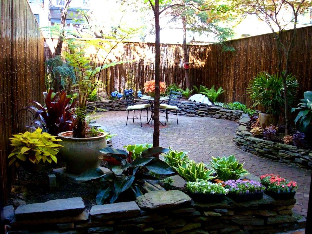 Backyard Backyard Landscaping Without Grass Small Backyard 400 x 300