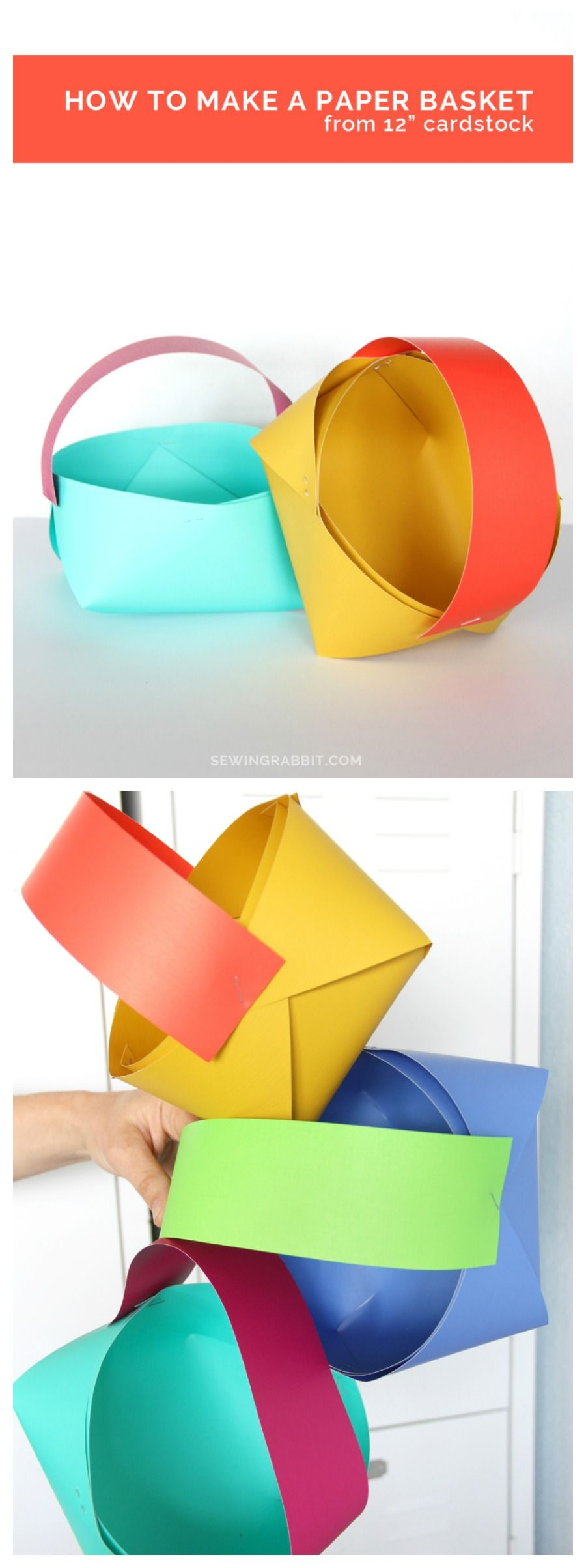 How To Make A Paper Basket Easter Pinterest Paper Basket