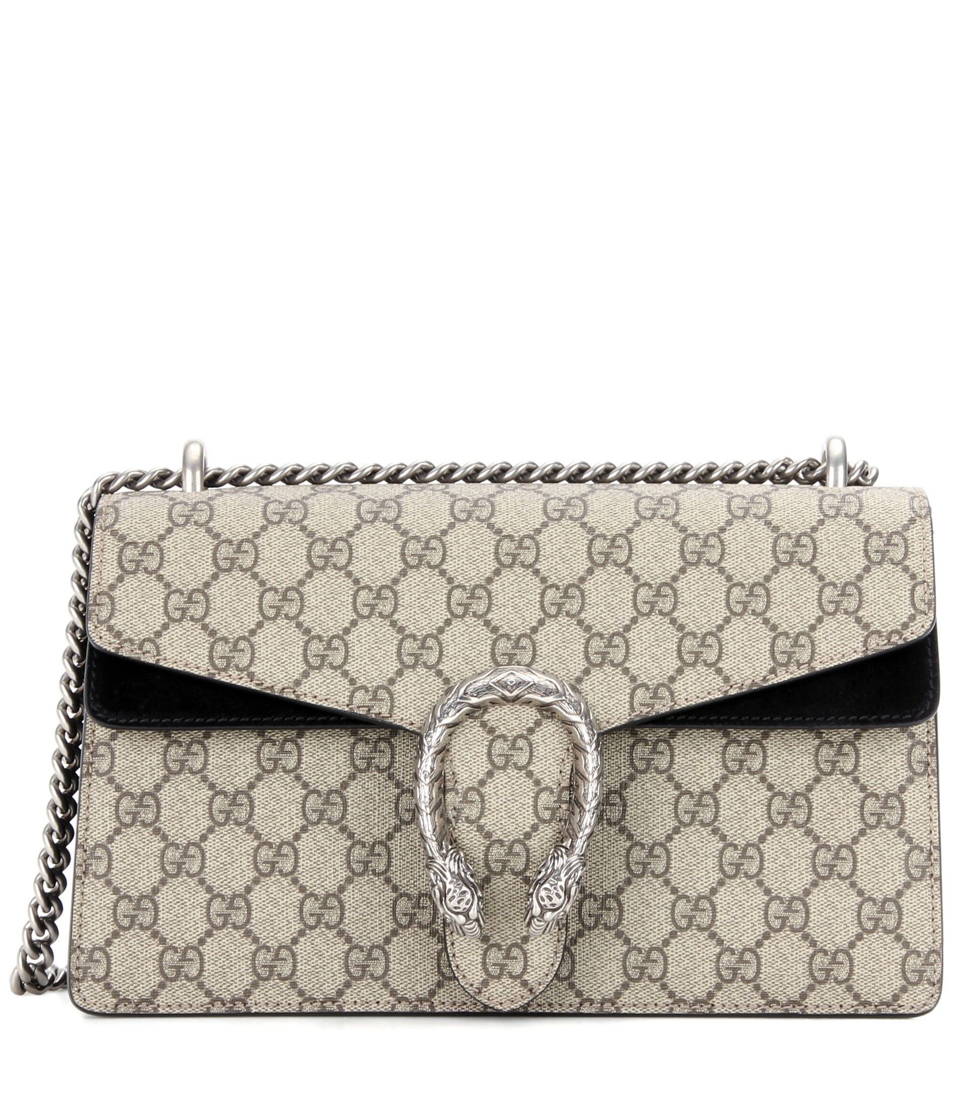 50c8ebec562274 Gucci - Dionysus GG Supreme Small coated canvas and suede shoulder bag - A  luxury staple