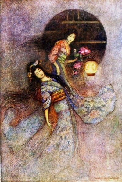 illustrated by Warwick Goble (London, Macmillan and Co., 1979)....The Peony Lantern