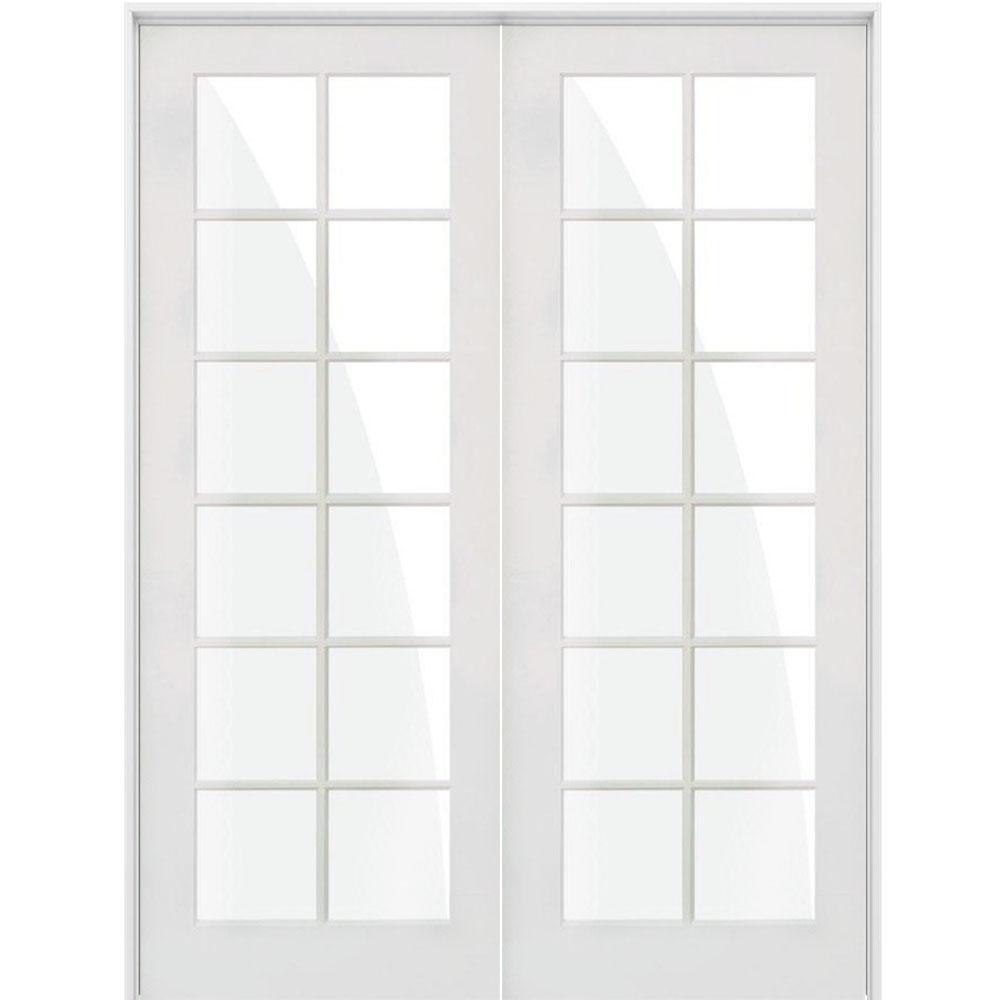 Krosswood Doors 60 In X 96 In Craftsman Shaker 12 Lite Both Active Mdf Solid Hybrid Core Double Prehung Interior Door Phid Sh 422 50 80 138 Aa The Home Depo In 2020 Prehung Interior Doors Doors Interior