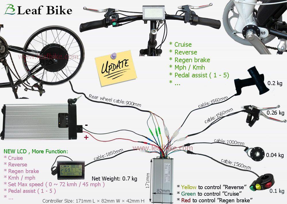 Rear Electric Hub Motor - Bike Conversion Kit