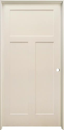 Mastercraft Primed Stile And Rail 3 Panel Prehung Interior Door At