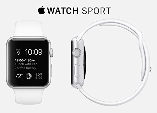 Apple Watch 7000 Series 38mm Aluminum Case Sport with White Sport Band   Apple Watch 'The most personal device' has all-new interactions and technologies. They let you do familiar things more quickly and conveniently.