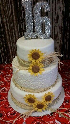 Groovy Country Sweet 16 Inspiraties Voor Bruiloften Cake Taart Funny Birthday Cards Online Elaedamsfinfo