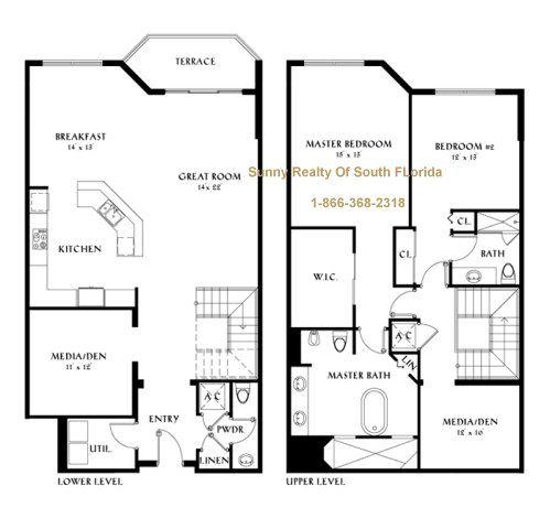 Wonderful Peninsula 2 Story Villa Floor Plans Arts Design Modern Style