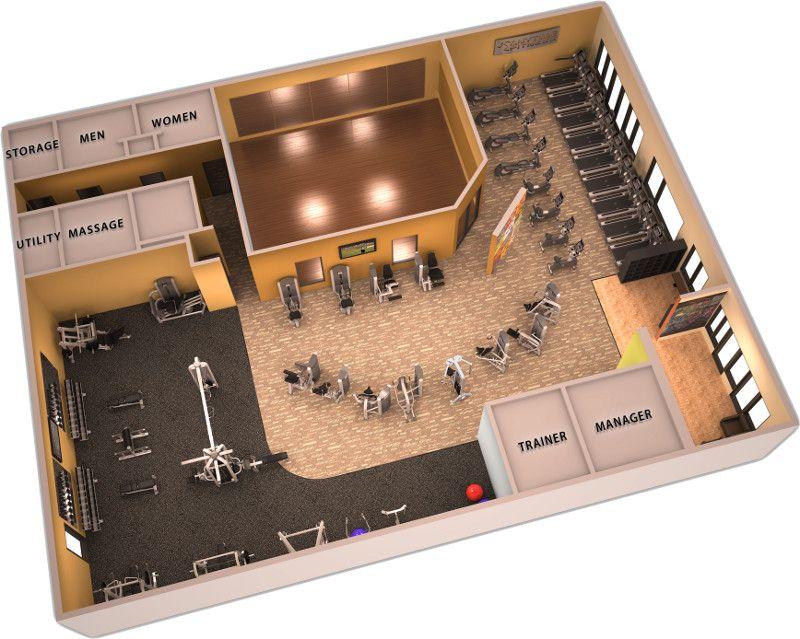Great 3D gym design 3D Gym Desings and gym plans Pinterest