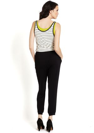 CASUAL COUTURE Racerback Striped Jumpsuit