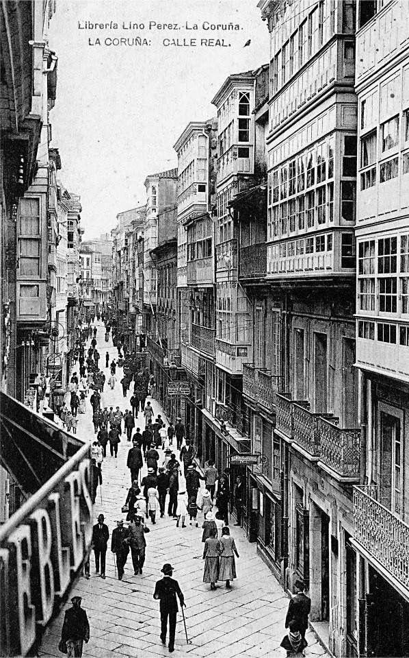 Calle real. La Coruña | 419 | Pinterest | Calle, Antigua y Fotos ...