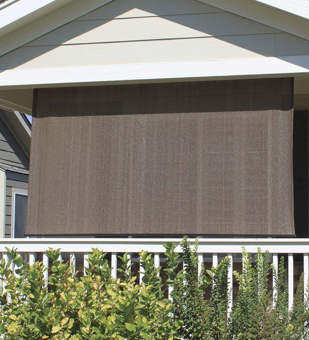 All Weather Outdoor Solar Shade | Patio Shade, Sun Shade, Porch Shade.