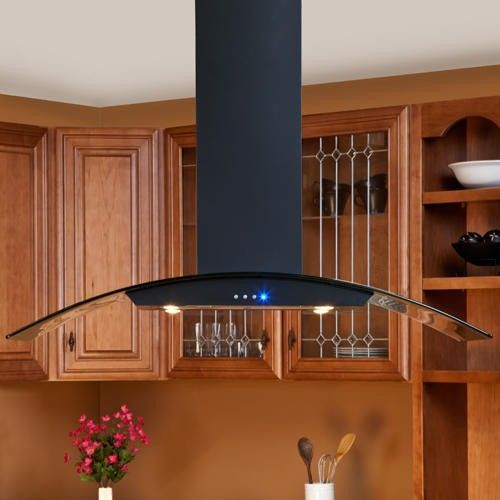 Casa Series 48 Black Island Range Hood 600 Cfm Island Range Hood Cottage Kitchen Design Small Cottage Kitchen