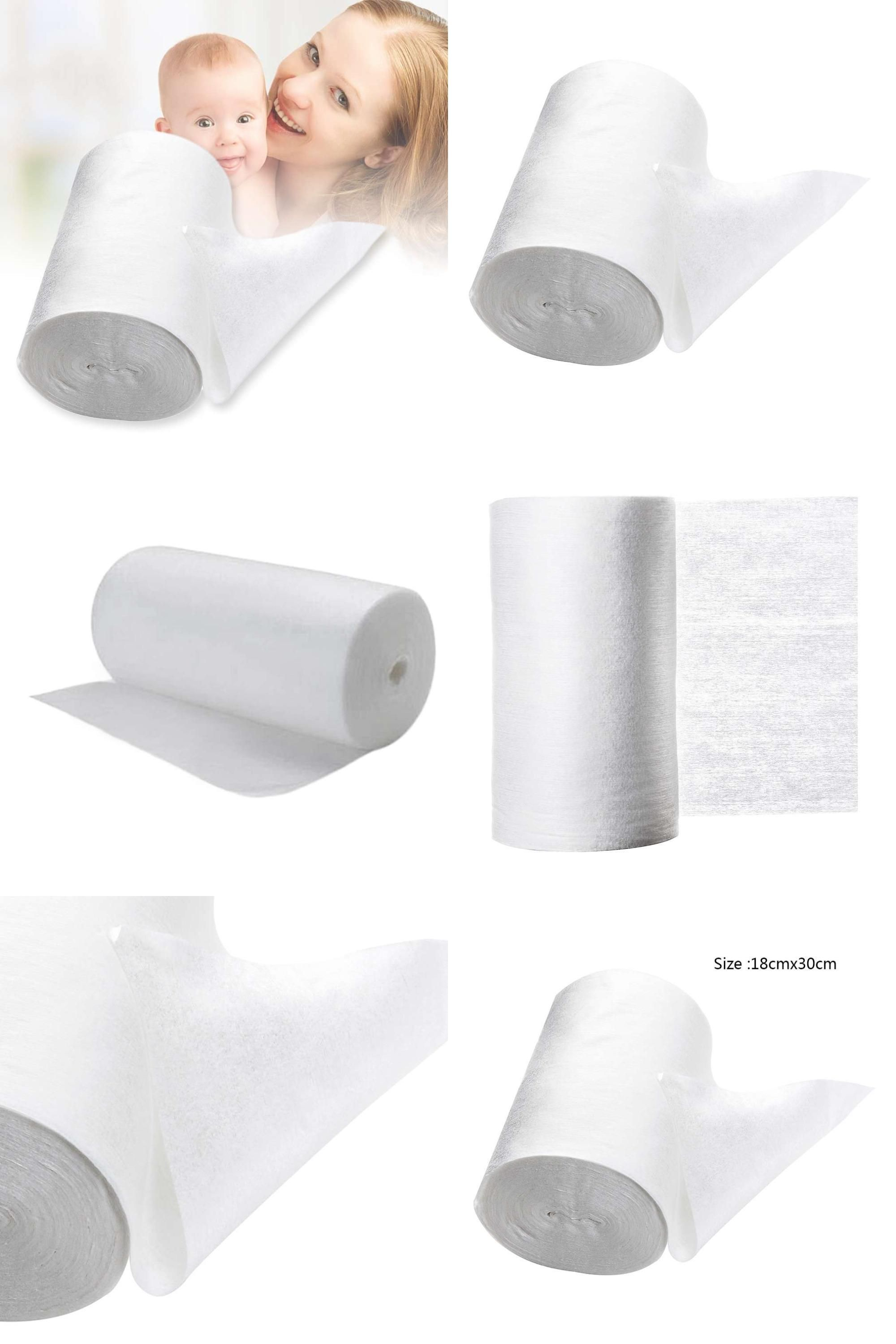 Baby Flushable Biodegradable Disposable Cloth Nappy Diaper Bamboo Liners 100 Sheets for 1 Roll 18cmx30cm Roll of Baby Flushable Biodegradable Disposable Cloth Na