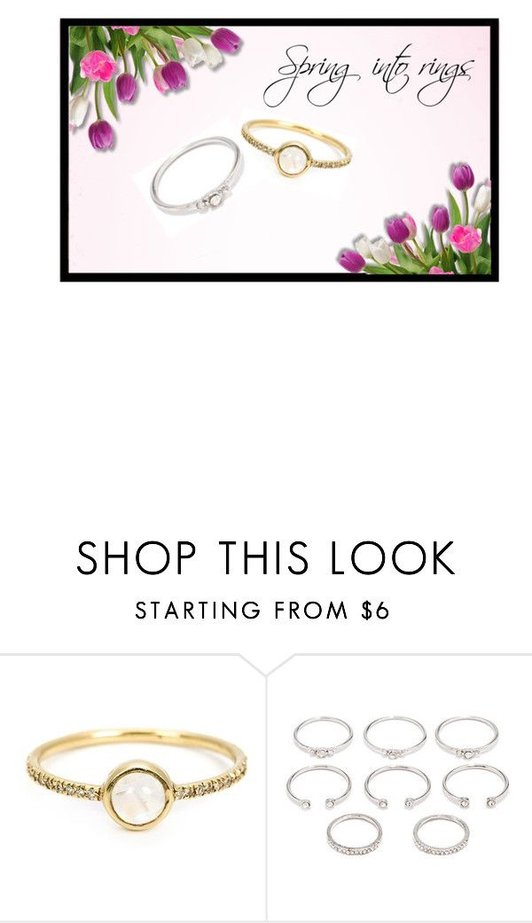 """""""Rings"""" by mihaliakt1 on Polyvore featuring Irene Neuwirth and Forever 21"""