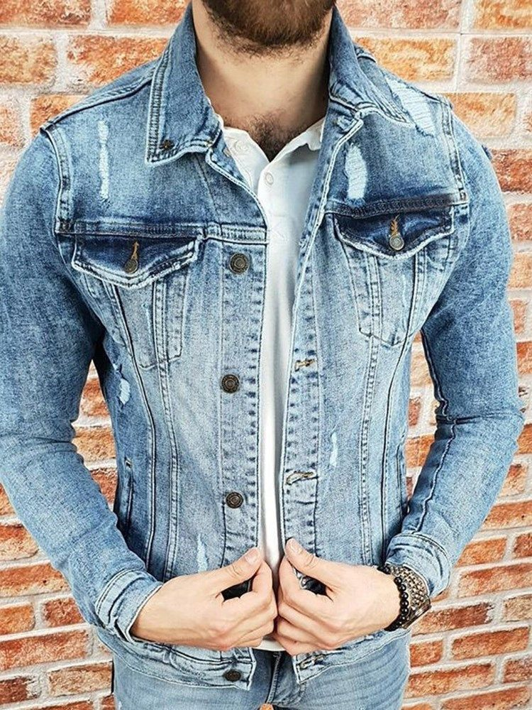 de bietet hohe Qualität Herren Jacke Jeansjacke
