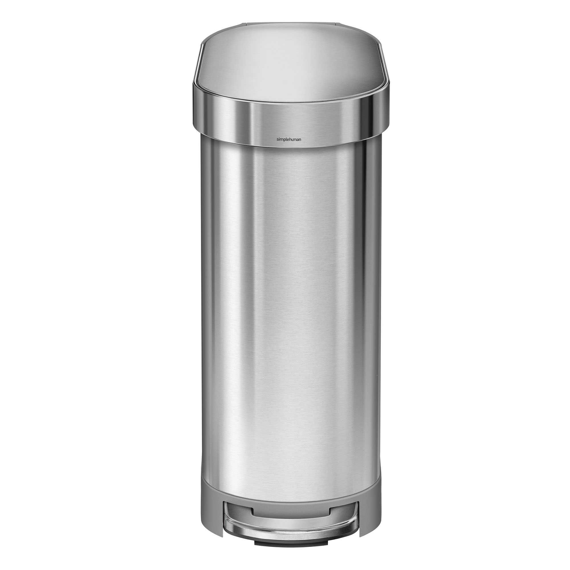 simplehuman® Slim 45-Liter Step-On Trash Can with Liner Rim ...