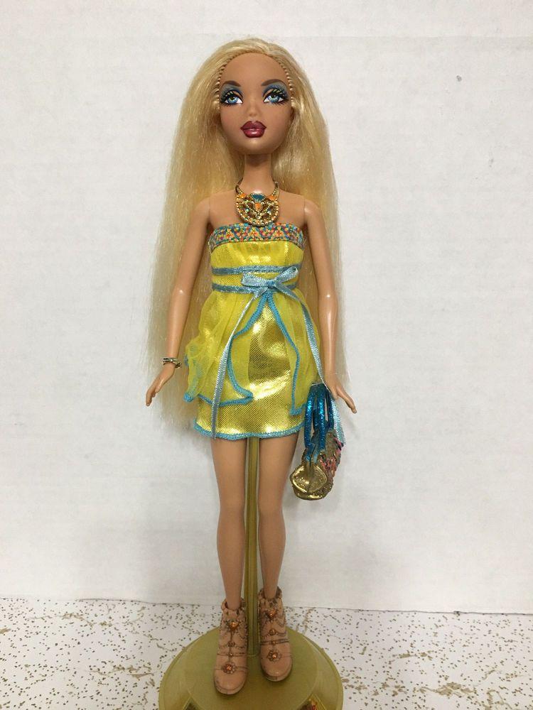Barbie My Scene Golden Bling Kennedy Doll Long Blonde Hair Rare