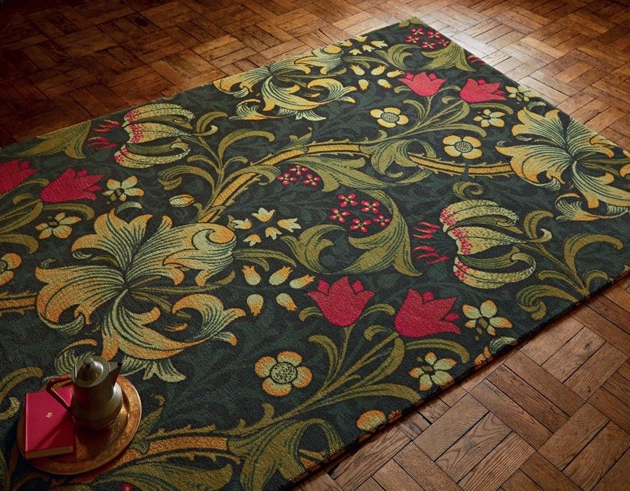 Golden Lily 27107 William morris, Rugs, Plum rug
