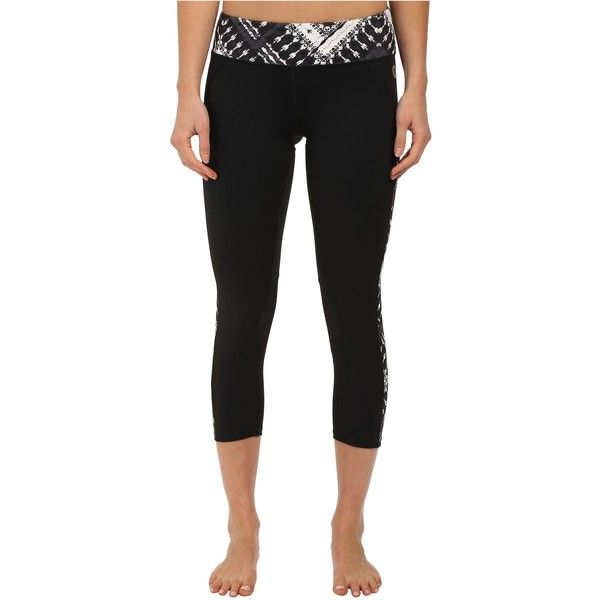Hurley Dri-Fit Paneled Leggings (Black T) Women's Workout (82 BRL) ❤ liked on Polyvore featuring activewear, activewear pants, black, logo sportswear, hurley and hurley sportswear