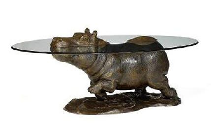 Zedediah Cute Hippo Animal Sculptures Hippopotamus