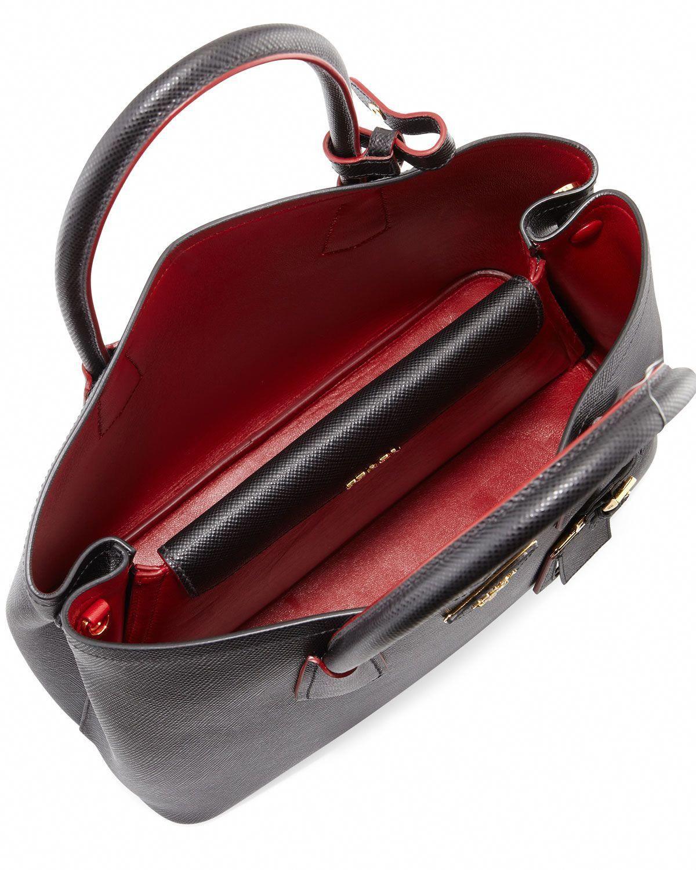 0d9747764e26 Prada Saffiano Cuir Double Medium Tote Bag